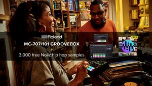 Grab a Roland MC Groovebox and get over 3,000 free Noiiz samples to power up your hip hop productions.