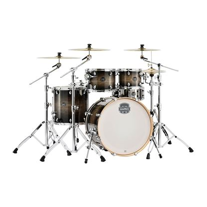 Mapex AR529STK Armory 5-Piece Shell Pack Drum Kit with 22in Bass Drum in Black Dawn