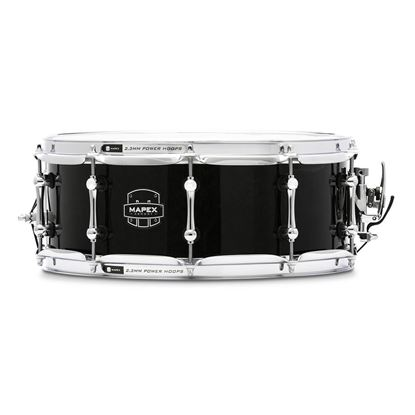Mapex ARMW4550KCTB Armory Sabre 14x5.5in Maple/Walnut Snare Drum in Black
