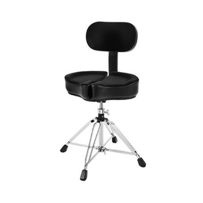 Ahead Spinal G Drum Throne with Backrest in Black