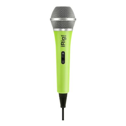 IK Multimedia iRig Mic Voice Handheld Analogue Microphone in Green