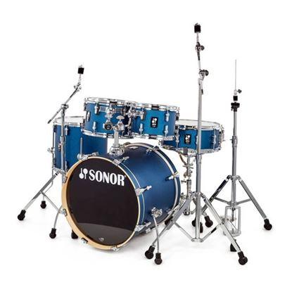 Sonor AQ1 Stage Series 5-Piece Drum Set in Dark Blue Sparkle with Hardware