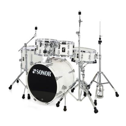 Sonor AQ1 Stage Series 5-Piece Drum Set in Piano White with Hardware