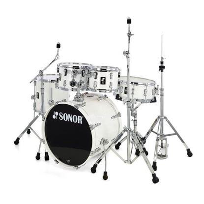 Sonor AQ1 Studio Series 5-Piece Drum Set in Piano White with Hardware