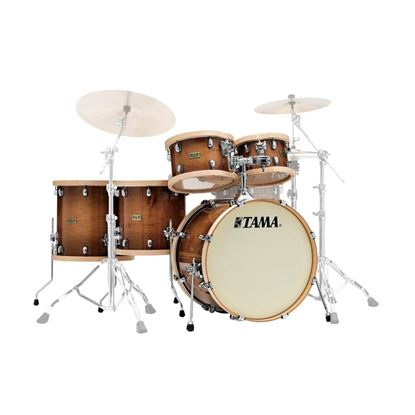 Tama S.L.P. Studio Maple 5 Piece Drum Kit with 22in Bass Drum in Gloss Sienna