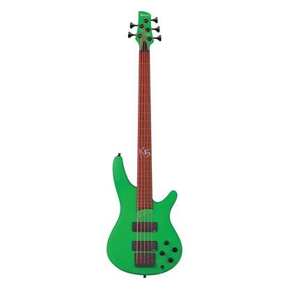 Ibanez K5LTD Limited Edition Korn Signature Bass Guitar in Fluorescent Green Matte