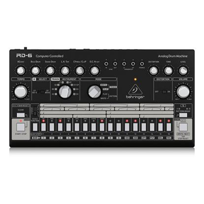 Behringer RD6 BK Analog Drum Machine - Top