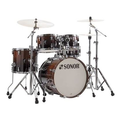 Sonor AQ2 Stage Series 5-Piece Drum Set in Brown Fade with Hardware