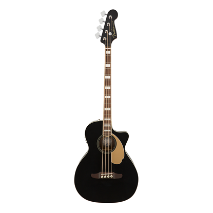 Fender Kingman Acoustic Bass Guitar Jetty Black - Front
