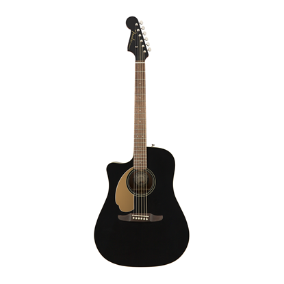 Fender Redondo Player Left Handed Acoustic Guitar Jetty Black - Front