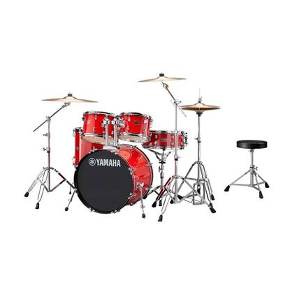 Yamaha RYD22 Rydeen Euro Acoustic Drum Kit with 22in Bass Drum in Hot Red