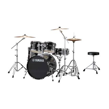 Yamaha RYD20 Rydeen Fusion Acoustic Drum Kit with 20in Bass Drum in Black Glitter