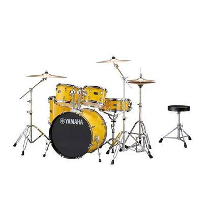 Yamaha RYD20 Rydeen Fusion Acoustic Drum Kit with 20in Bass Drum in Mellow Yellow