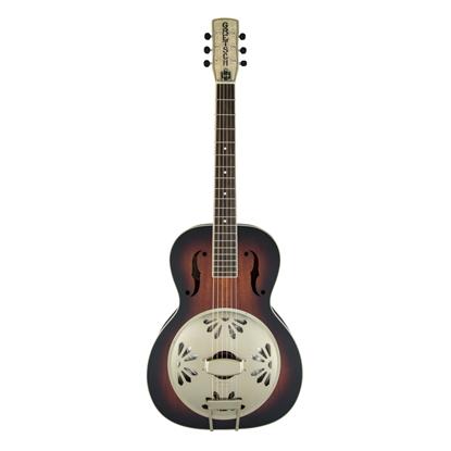 Grestch G9240 Alligator Round Neck Mahogany Body Resonator Guitar - 2-Colour Sunburst Front