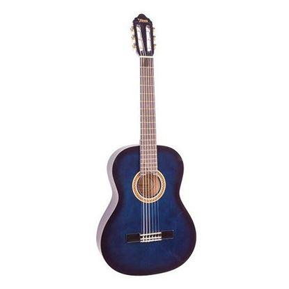 Valencia VC101BUS 1/4 Size Classical Guitar - Blue Sunburst