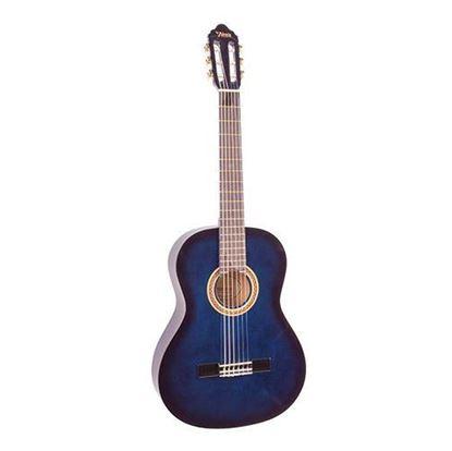 Valencia VC101BUS 4/4 Size Classical Guitar - Blue Sunburst