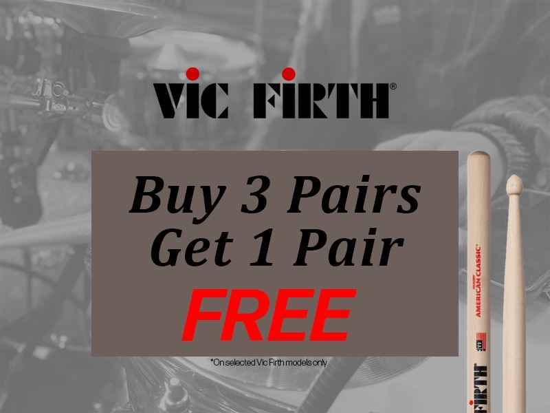 Vic Firth 5A Promo Pack (Buy 3 Pairs + Get 1 Pair Free)