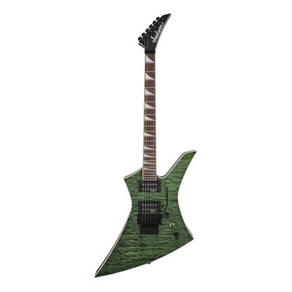 Jackson KEXQ X Series Kelly Electric Guitar with Laurel Fingerboard in Transparent Green - Front
