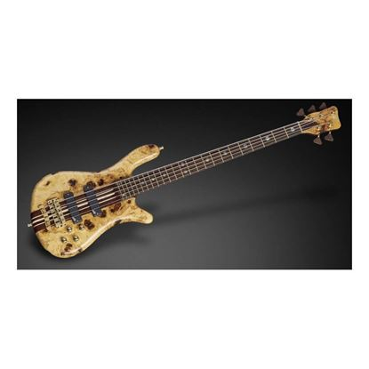 Warwick Custom Shop Streamer Stage Limited Edition 5 String Bass Guitar in European Ash Burl Top - Front
