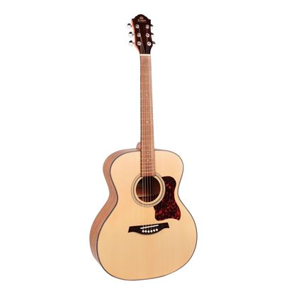 Gilman GA10 Grand Auditorium Dreadnought Acoustic Guitar in Natural Satin