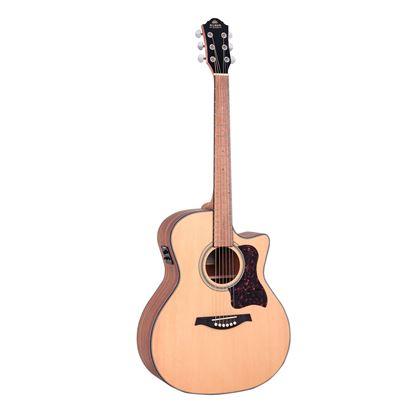 Gilman GA10CE Grand Auditorium Acoustic Guitar with Pickup in Natural Satin
