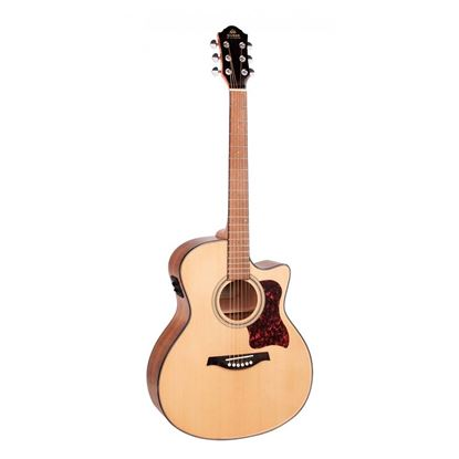 Gilman GA10CE Dreadnought Acoustic Guitar with Pickup in Natural Gloss