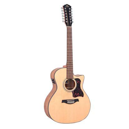 Gilman GA112CE 12-String Grand Auditorium Acoustic Guitar with Pickup in Natural Satin