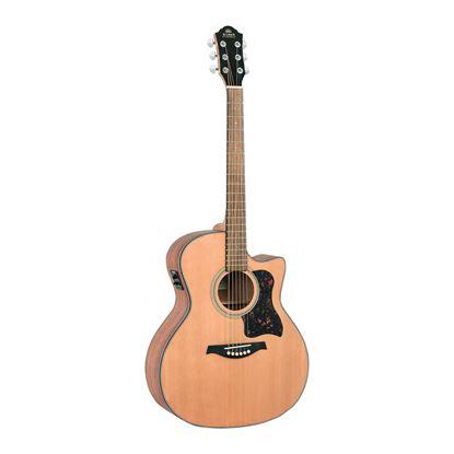 Gilman GA12CE Grand Auditorium Acoustic Guitar with Pickup in Natural Satin