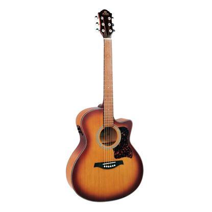 Gilman GA12CE Grand Auditorium Acoustic Guitar with Pickup in Tobacco Sunburst Satin