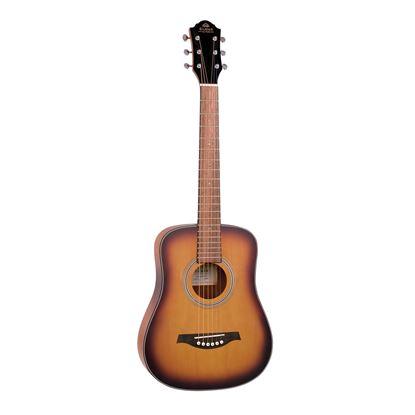 Gilman GBY10 Mini Traveller Dreadnought Acoustic Guitar in Tobacco Sunburst Satin