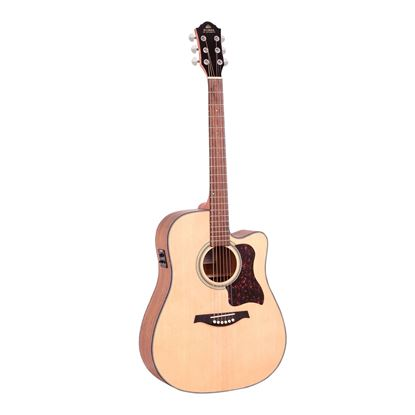 Gilman GD10CE Dreadnought Acoustic Guitar with Pickup in Natural Satin