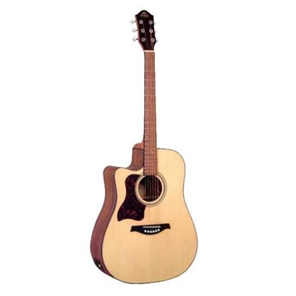 Gilman GD10CELH Left Hand Dreadnought Acoustic Guitar with Pickup in Natural Satin