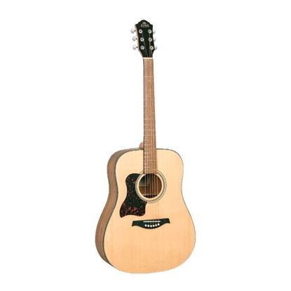 Gilman GD10 Left Hand Dreadnought Acoustic Guitar in Natural Satin