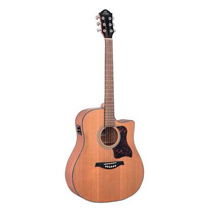 Gilman GD12CE Cutaway Dreadnought Acoustic Guitar in Natural Satin