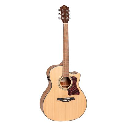 Gilman GOM10CE Orchestra Acoustic Guitar with Pickup in Natural Satin