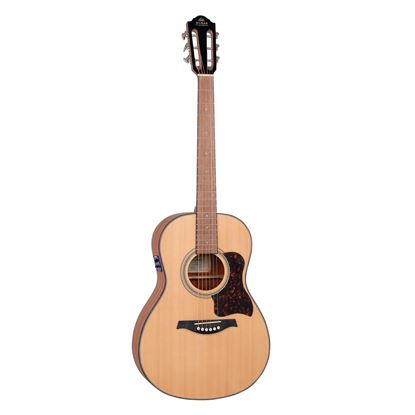 Gilman GPA10E Parlour Acoustic Guitar with Spruce Top & Pickup in Natural Satin