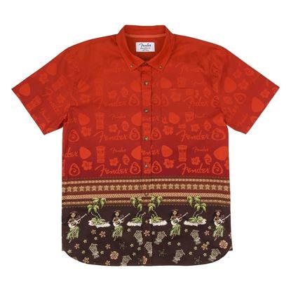 Fender The Hawaiian Multi Button Up Shirt (Large)