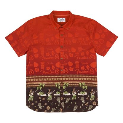 Fender The Hawaiian Multi Button Up Shirt (Extra Large)