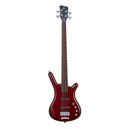 Warwick Corvette Basic 4-String Bass Guitar in Burgundy Red Transparent Satin