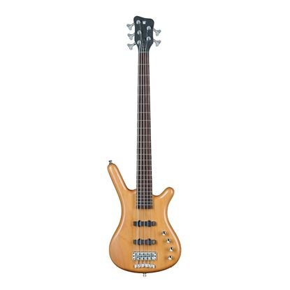 Warwick Corvette Basic - 5-String Bass Guitar in Natural Transparent Satin - Front