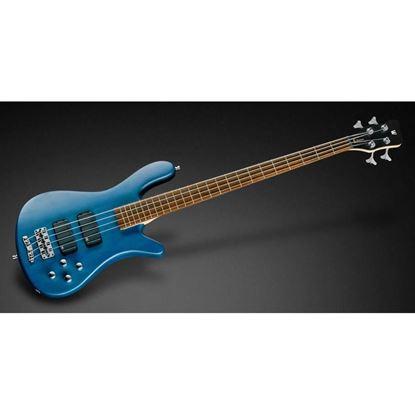 Warwick Streamer Standard 4-String Bass Guitar in Ocean Blue Transparent Satin - Angle