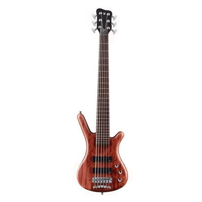 Warwick Teambuilt Pro Series Corvette Bubinga 6-String Bass Guitar in Natural Transparent Satin