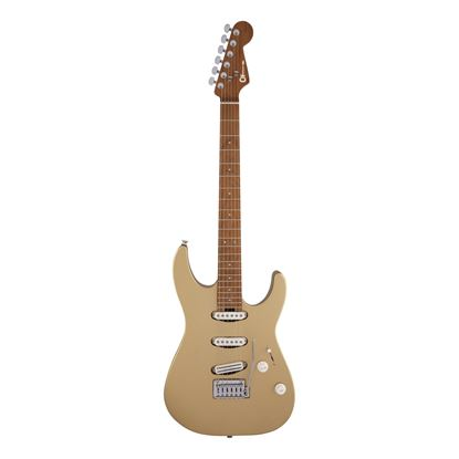 Charvel Pro-Mod DK22 SSS 2PT CM Electric Guitar with Caramelized Maple Fingerboard in Pharaohs Gold - Front