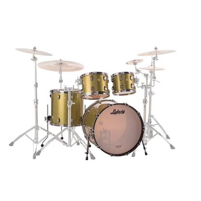 Ludwig Classic Maple MOD 4-Piece Drum Kit with 22in Bass Drum in Olive Sparkle