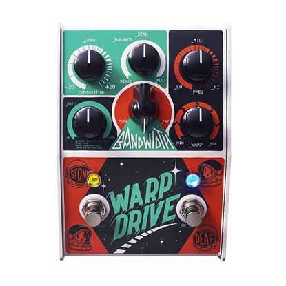 Stone Deaf Warp Drive Distortion Effects Pedal - Top