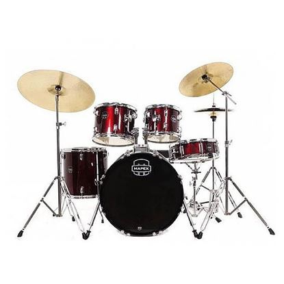 Mapex Prodigy 5-Piece Drum Kit Package with 20in Bass Drum & Meinl Cymbals in Dark Red