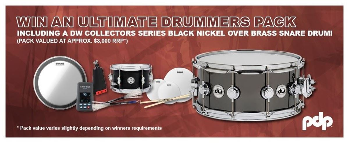 Purchase a PDP Drum Kit For A Chance To Win An Ultimate Drummers Pack!