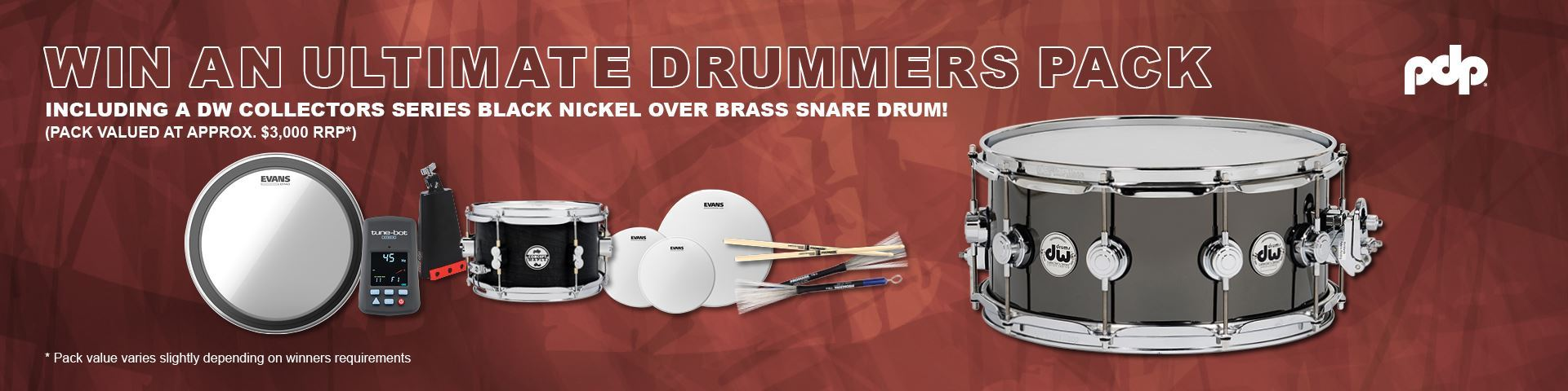 Win an Ultimate Drummers Pack Valued at $3,000 (RRP)