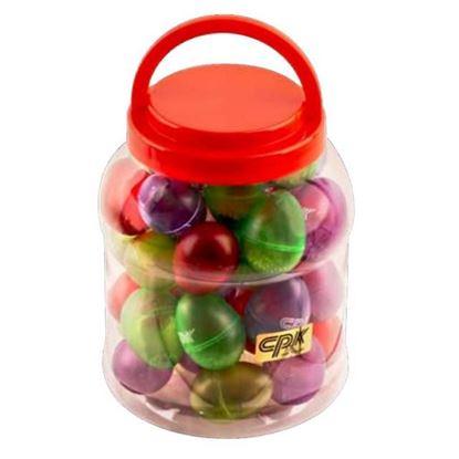CPK ED800 Plastic Container of Egg Maracas - 40 Pieces