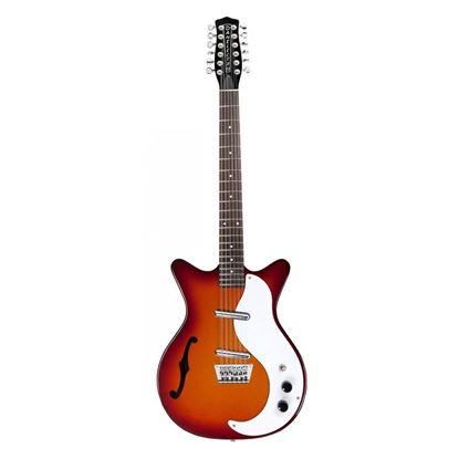 Danelectro 59 Series 12-String Semi Hollow Electric Guitar in Cherry Sunburst